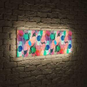 boxpop лайтбокс для гостиной или спальни рассвет 35x105 p021 FotonioBox Лайтбокс панорамный Листья 35x105-p028