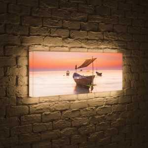 FotonioBox Лайтбокс панорамный Лодка 35x105-p023