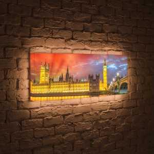 FotonioBox Лайтбокс панорамный Лондон 45x135-p003 встраиваемый светильник elektrostandard 4105 mr16 ch хром 4690389045516