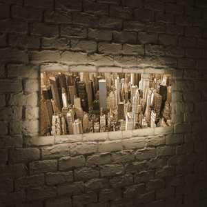 FotonioBox Лайтбокс панорамный Манхеттен 35x105-p009 ручной фонарик blog 14 led slt p009