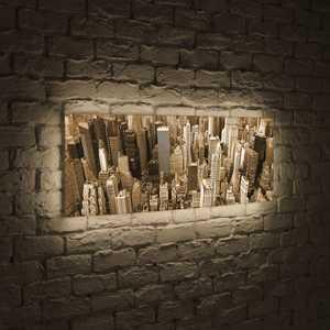 boxpop лайтбокс для гостиной или спальни рассвет 35x105 p021 FotonioBox Лайтбокс панорамный Манхеттен 35x105-p009