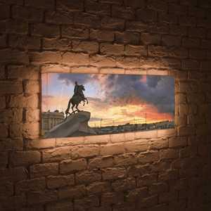 FotonioBox Лайтбокс панорамный Медный всадник 35x105-p031 елизавета топалова медный всадник жизненный путь этьена фальконе