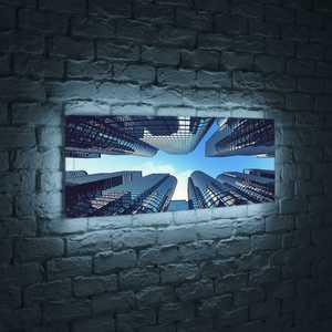 FotonioBox Лайтбокс панорамный Небоскребы 45x135-p006 fotoniobox лайтбокс панорамный лондон 45x135 p003