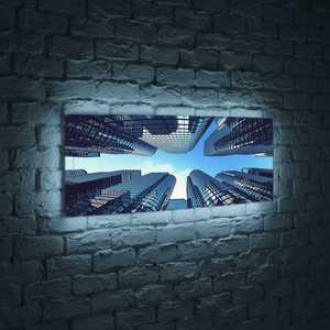 FotonioBox Лайтбокс панорамный Небоскребы 60x180-p006 лайтбокс панорамный ручей 60x180 p014