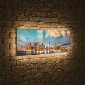 FotonioBox Лайтбокс панорамный Огни NYC 45x135-p016