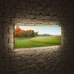 FotonioBox Лайтбокс панорамный Осенняя опушка 35x105-p024