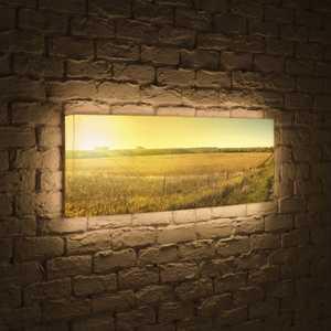 boxpop лайтбокс для гостиной или спальни рассвет 35x105 p021 FotonioBox Лайтбокс панорамный Прованс 35x105-p017