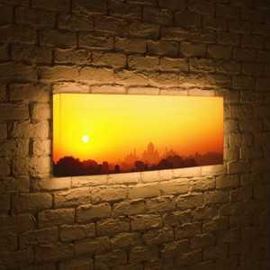 boxpop лайтбокс для гостиной или спальни рассвет 35x105 p021 FotonioBox Лайтбокс панорамный Рассвет 35x105-p021