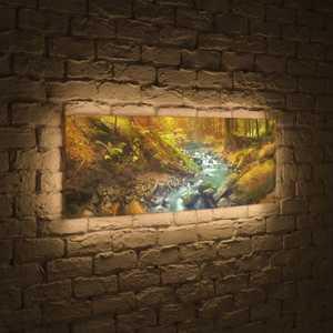FotonioBox Лайтбокс панорамный Ручей 35x105-p014 лайтбокс панорамный ручей 60x180 p014