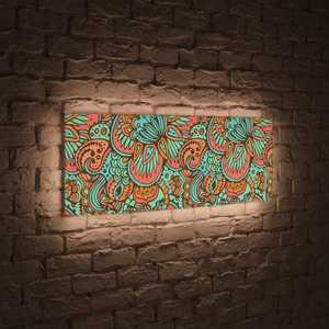 boxpop лайтбокс для гостиной или спальни рассвет 35x105 p021 FotonioBox Лайтбокс панорамный Узор 35x105-p011
