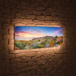 FotonioBox Лайтбокс панорамный Цветы на закате 45x135-p002 sr 50pcs lot p002