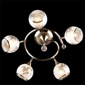 Люстра Eurosvet 9611/5 античная бронза/белый