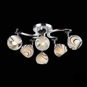 Люстра Eurosvet 9643/6 алюминий/белый simple led wall lamp modern home lighting bedroom berth crystal wall light corridor crystal wall sconce contains led bulb