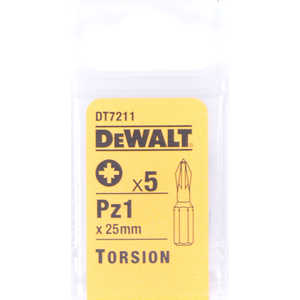 Бит DeWALT PZ1 х25мм 5шт Torsion (DT 7211)