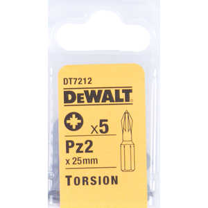 Бит DeWALT PZ2 х25мм 5шт Torsion (DT 7212)