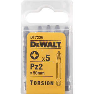 Бит DeWALT PZ2 х50мм 5шт Torsion (DT 7226)