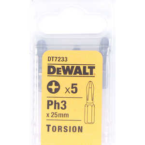 Бит DeWALT PH3 х25мм 5шт Torsion (DT 7233)