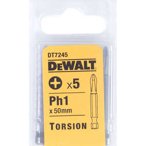 Бит DeWALT PH1 х50мм 5шт Torsion (DT 7245)