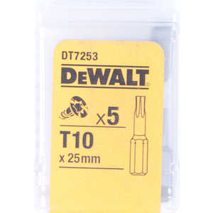 Бит DeWALT TX10 х25мм 5шт Torsion (DT 7253)