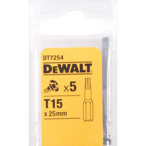 Бит DeWALT TX15 х25мм 5шт Torsion (DT 7254)