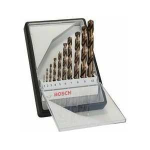 Набор сверл по металлу Bosch 1.0-10.0мм 10шт HSS-CO Robust Line (2.607.019.925)