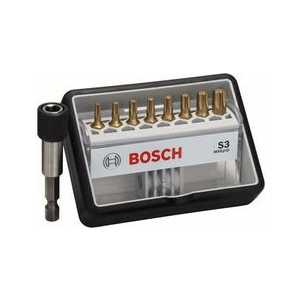 Набор бит Bosch х25мм 8шт + держатель S Max Grip Robust Line (2.607.002.576) набор бит bosch х25мм ph pz 12шт держатель max grip robust line 2 607 002 578