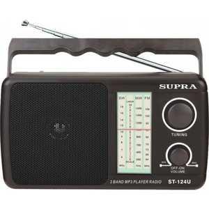 Радиоприемник Supra ST-124U black