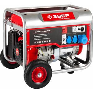 Генератор бензиновый Зубр ЗЭСБ-5500-Н генератор бензиновый зубр зэсб 3500