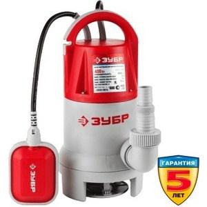 Насос погружной Зубр ЗНПГ-400 насос погружной для грязной воды зубр знпг 550