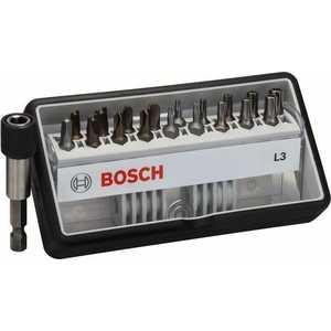 Фотография товара набор бит Bosch х25мм TH/TW/SP/R 18шт + держатель Extra Hart Robust Line (2.607.002.569) (390606)