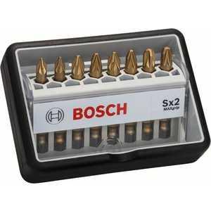 Набор бит Bosch х49мм PZ1/PZ2/PZ3 8шт Max Grip Robust Line (2.607.002.571) набор бит bosch х25мм ph pz 12шт держатель max grip robust line 2 607 002 578