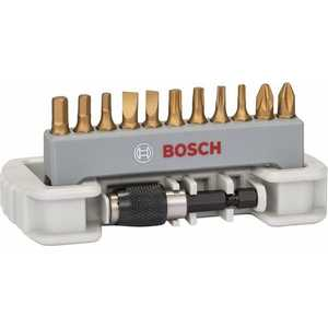 Набор бит Bosch х25мм PH/PZ/TX/SL/HEX 12шт + держатель (2.608.522.128)  hammer 203 901 pb set no1 7pcs ph pz sl 7шт