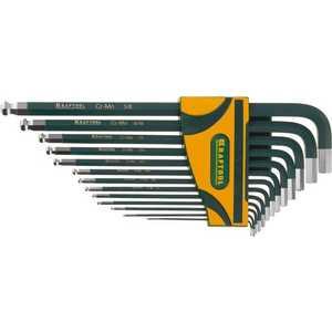 Набор шестигранных ключей Kraftool HEX0.05-3/8 13шт Industrie (27444-H13) набор ключей имбусовых длинных kraftool industrie 27444 h13