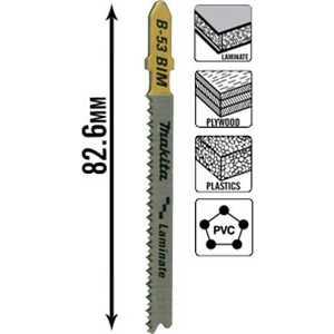 Пилки для лобзика Makita 82мм 5шт T101BIF Super Express (B-10970) цена
