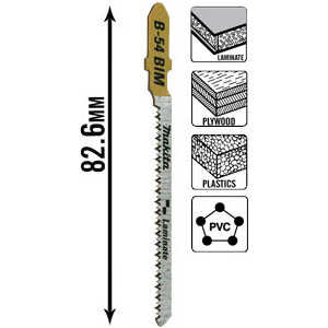 Пилки для лобзика Makita 82мм 5шт T101AOF Super Express (B-10986) цена