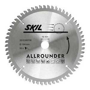 Диск пильный Skil 184х16мм 60зубьев Allrounder (2610395706)