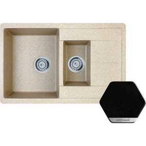 Мойка кухонная Weissgauff Quadro775K Eco Granit черный