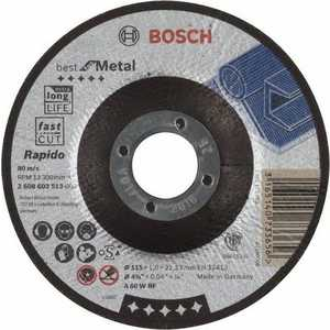 Диск отрезной Bosch 115х22.2х1.0мм Best for Metal Rapido (2.608.603.513)