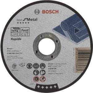 Диск отрезной Bosch 125х22.2х1.0мм Best for Metal Rapido (2.608.603.514)