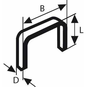 Скобы для степлера Bosch 6мм тип 53 1000шт (2.609.200.214)