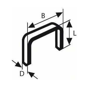 Скобы для степлера Bosch 8мм тип 53 1000шт (2.609.200.215)