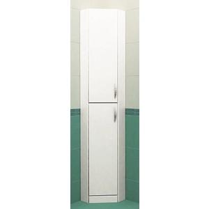 Пенал Меркана напольный 30 см угловая без зеркала левый белая (25549)