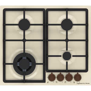 Газовая варочная панель Zigmund-Shtain GN 88.61 X кухонная мойка zigmund amp shtain kaskade 800 швейцарский шоколад
