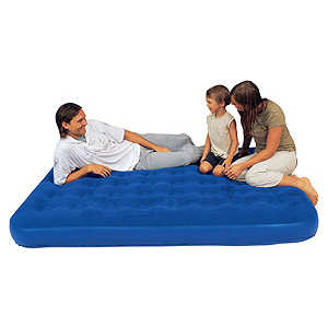 Надувная мебель Bestway Flocked Air Bed Queen (синий) bestway inflatable floating bed with backrest three safety air chambers
