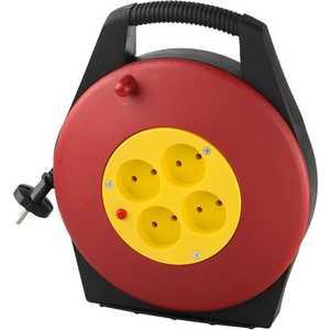Удлинитель СВЕТОЗАР 10м на катушке (SV-55071-10) электрический удлинитель с заземлением 5 гнезд 3м светозар sv 55053 3