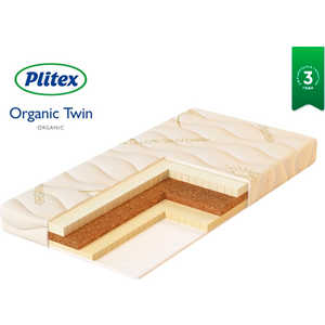 Матрас Plitex Organic Twin 1190х600х110 мм ОРГ-02/1