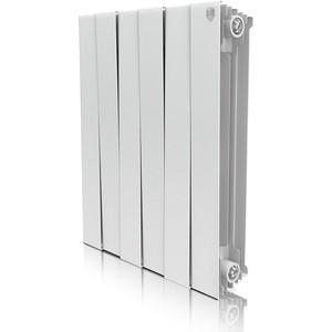Радиатор отопления ROYAL Thermo биметаллический Piano Forte 500/Bianco Traffico/6 секций royal thermo optimal 500 6 секций