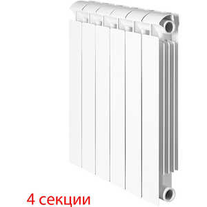 Радиатор отопления Global биметаллические STYLE EXTRA 500 (4 секции)  global style plus 500 4 секции