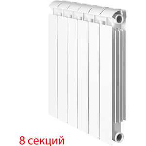 Радиатор отопления Global биметаллические STYLE EXTRA 500 (8 секций) радиатор отопления global алюминиевые vox r 500 12 секций