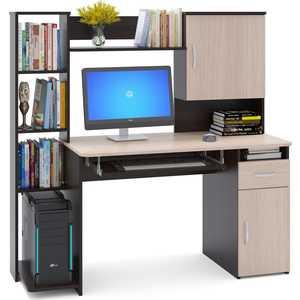 Стол компьютерный СОКОЛ КСТ-11.1 венге/дуб беленый компьютерный стол сокол кст 107 1 кн 24 венге